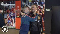 Jordi Alba se reencuentra con Luis Enrique en la concentración de la selección Española.