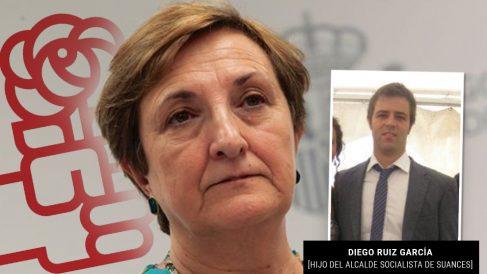 La consejera 'sanchista' de Cantabria junto al hijo del alcalde socialista de Suances
