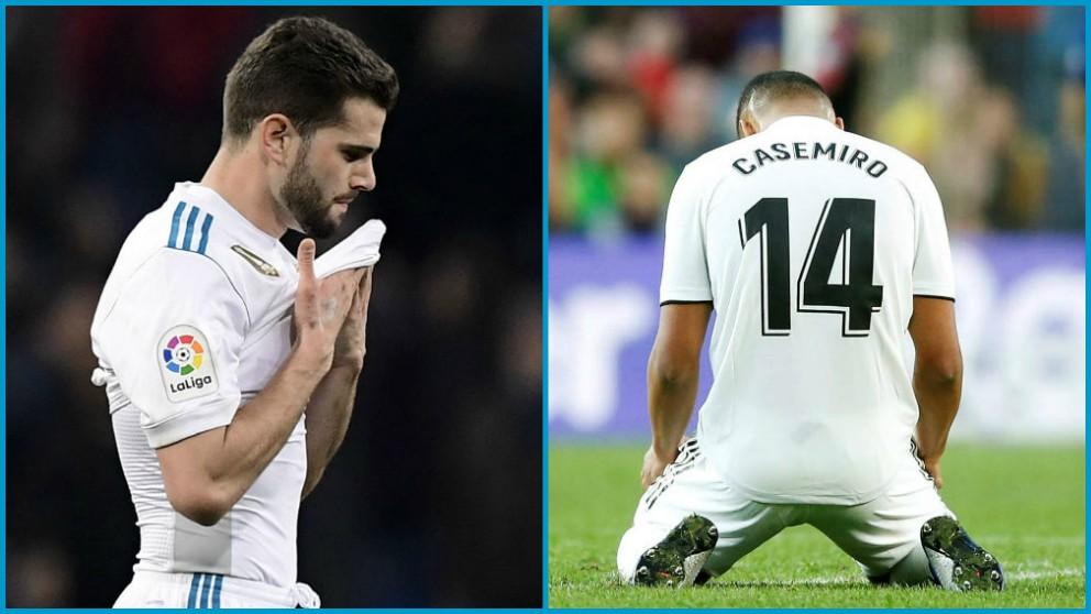 El Real Madrid pierde a Nacho y Casemiro.