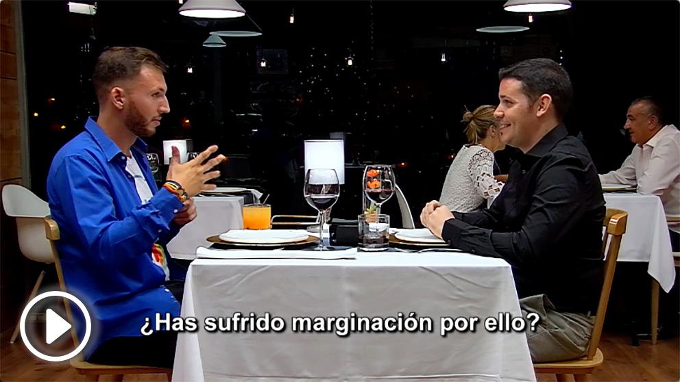 Joan y Adrián en su cita de 'First Dates'