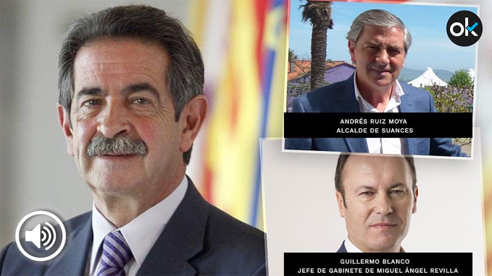 El alcalde socialista de Suances junto a Guillermo Blanco