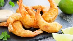 Receta de gambones en tempura