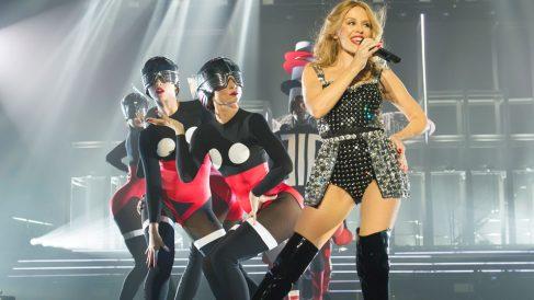 Una actuación de la australiana Kylie Minogue.
