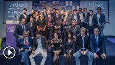 Los premiados en la Gala de los V Premios María de Villota y VII Premios Ciudad de la Raqueta.