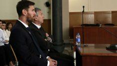 Messi, durante el juicio. (Getty)