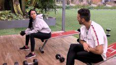 Suso y Aurah hablando de escotes en el gimnasio de 'GH VIP 2018'