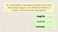 Cambia el formato del texto whatsapp siguiendo estos pasos