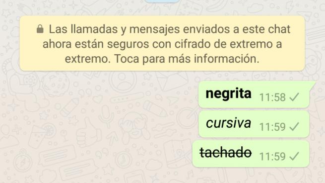 formato del texto whatsapp