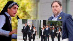 La monja independentista Teresa Forcades y los políticos independentistas presos