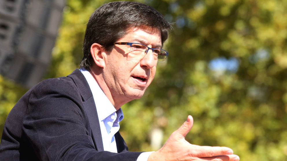 El candidato de C's a la presidencia de la Junta de Andalucía, Juan Marín (Foto: Efe)