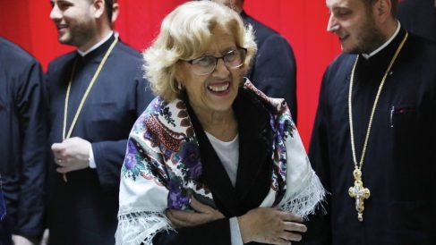 Manuela Carmena en su viaje a Rumanía. (Foto. Madrid)