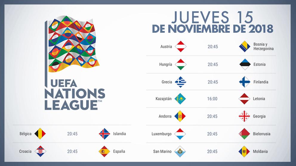 Calendario Uefa Nations League.Calendario Liga De Las Naciones Partidos De Hoy Jueves 15