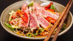 Receta de wok de atún