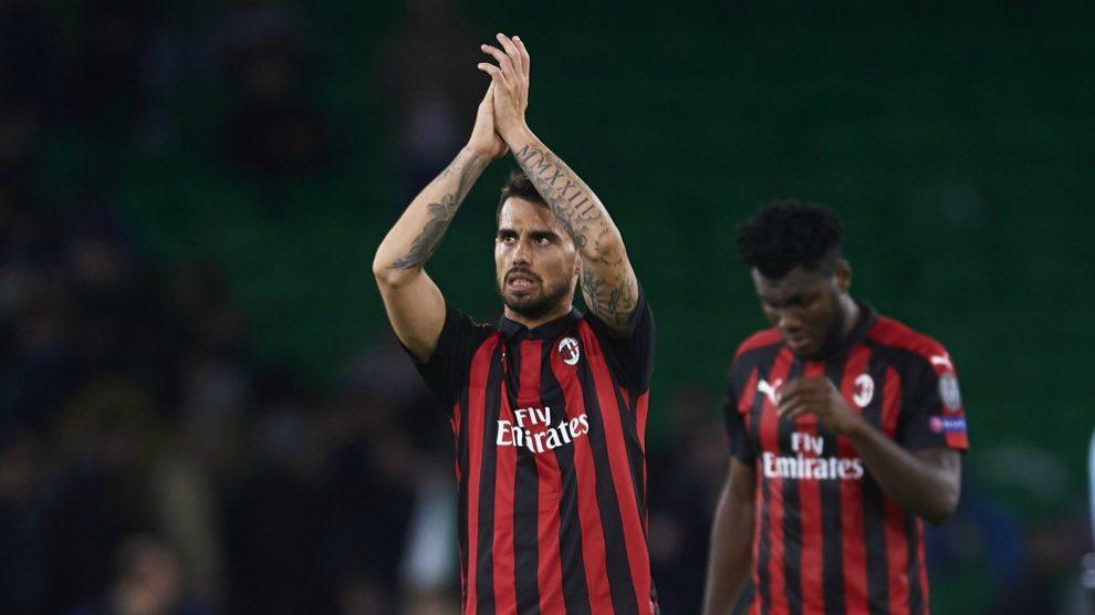 Suso, en un partido con el Milan. (Getty)