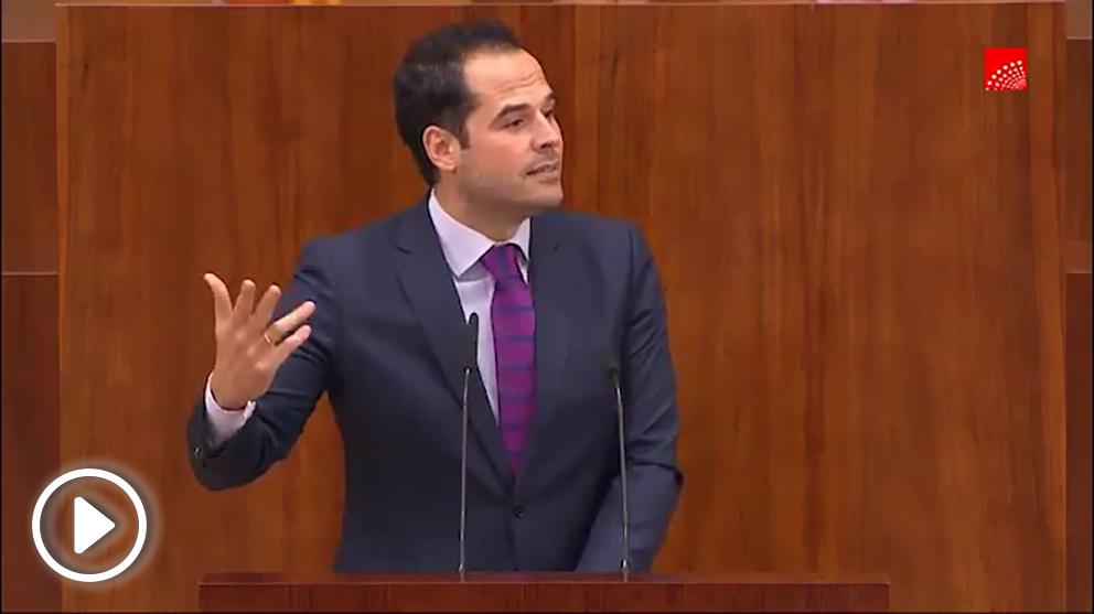 Ignacio Aguado este jueves (Asamblea de Madrid).