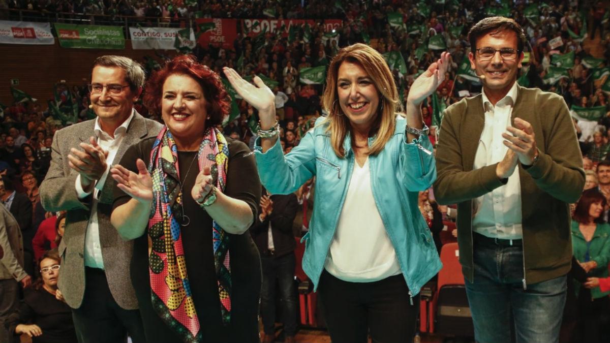 Susana Diaz en su primer acto de campaña.