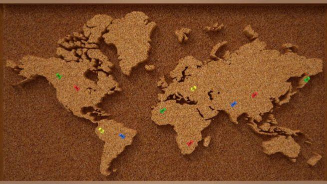 Como Hacer Un Mapa.Como Hacer Un Mapa De Corcho Para Decorar