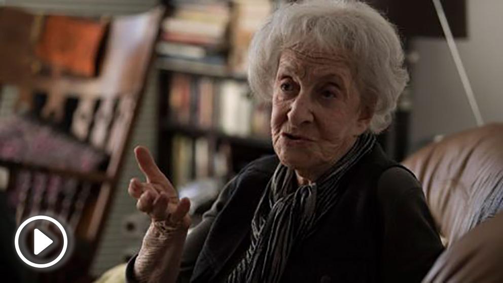 La poetisa uruguaya Ida Vitale. Foto: AFP