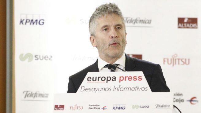 Marlaska en una rueda de prensa. Foto: Europa Press