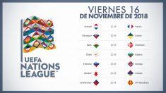 Calendario Liga de Naciones: Partidos de hoy, viernes 16 de noviembre.