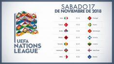 Calendario Liga de Naciones: partidos de hoy, sábado 17 de noviembre.