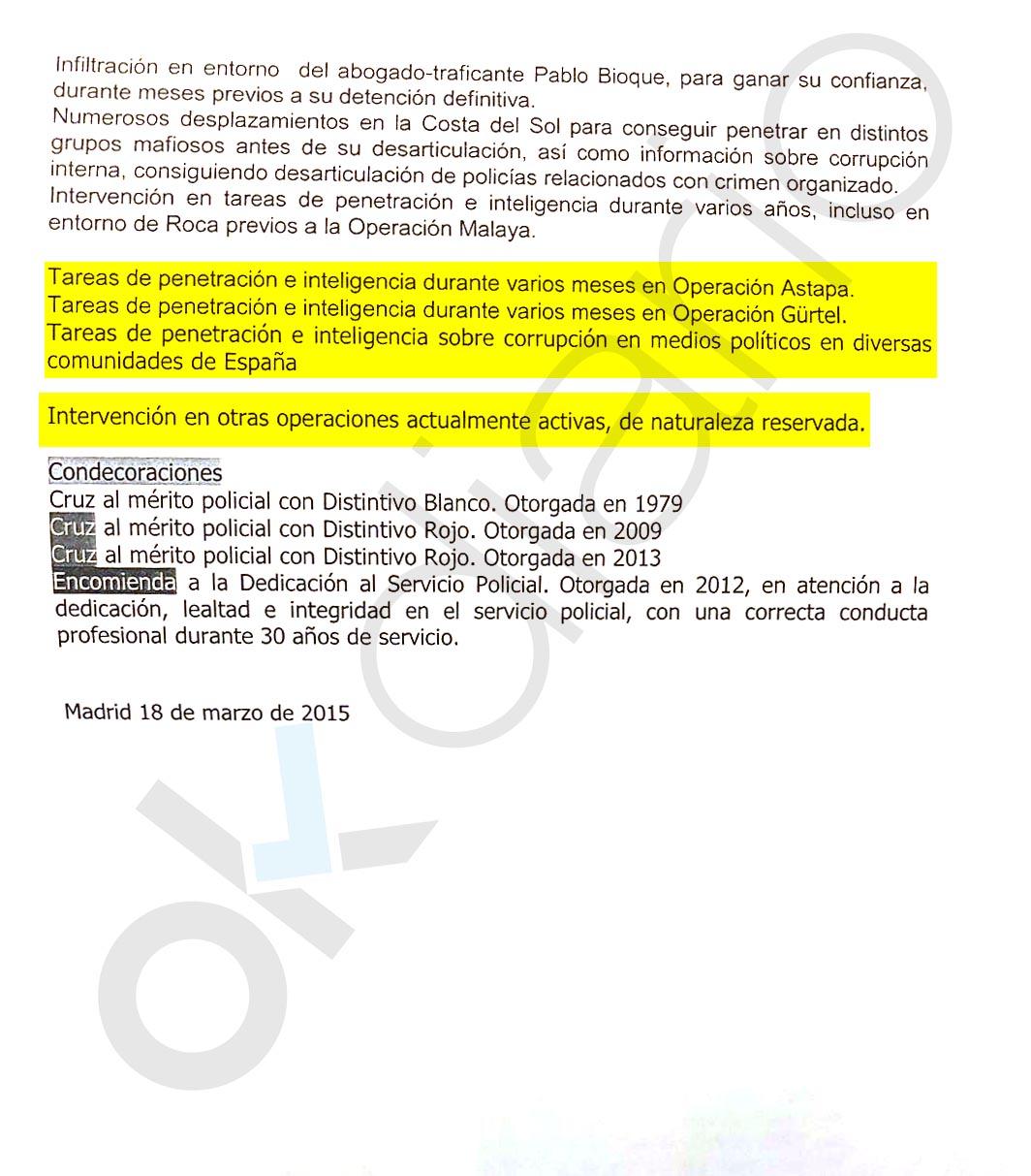 """Villarejo también hizo """"tareas de penetración"""" en casos de corrupción """"en diversas comunidades"""""""