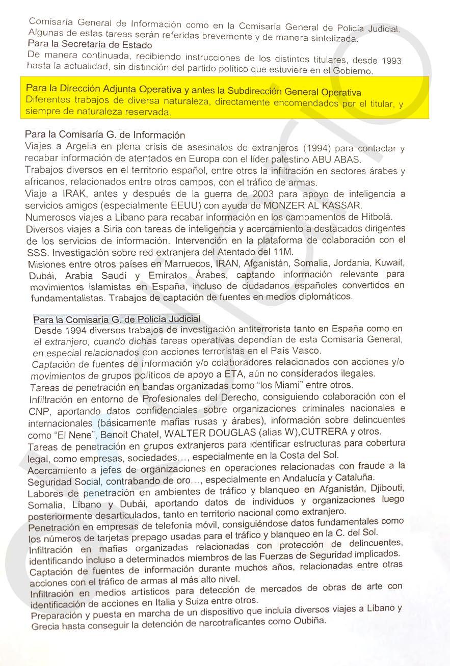 Un documento oficial prueba que Villarejo reportaba a Cosidó de sus
