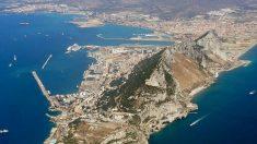 Vista aérea del Peñón de Gibraltar.