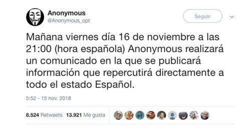 Mensaje de Anonymous