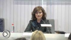 Carmen Calvo vincula el cambio de hora a la «resistencia al machismo de la sociedad»