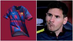 La camiseta del Barcelona mezcla muchos estilos.