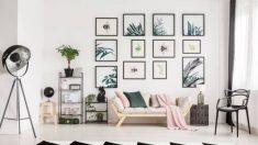 Aprende cómo se hace una composición de cuadros en la pared