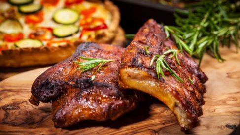 Receta de costillas de cerdo asadas con miel