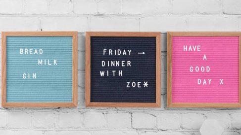 El letter board es un elemento decorativo original