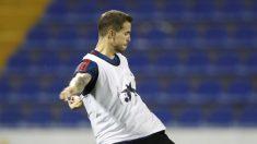 Íñigo Martínez durante un entrenamiento con la selección española. (Europa Press)