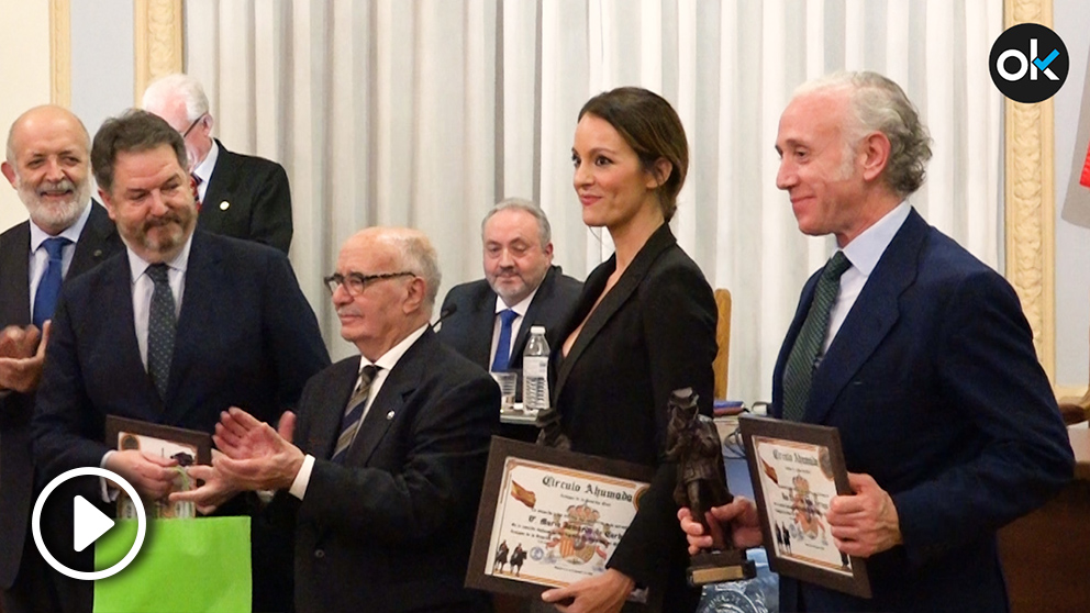 Eduardo Inda y María Jamardo recogen los premios Círculo Ahumada de Amigos de la Guardia Civil 2018