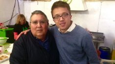 Jesús Rodríguez Morales junto a Íñigo Errejón.