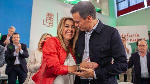 Pedro Sánchez y Susana Díaz en un acto del PSOE.