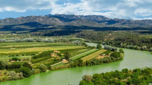 Río Ebro, uno de los más importantes de España.