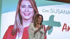 Susana Díaz en la campaña de las elecciones andaluzas 2018. Foto: EP