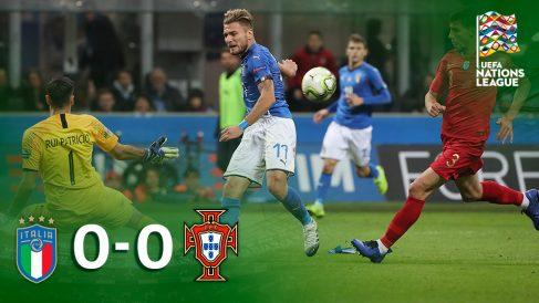 Italia y Portugal empatan a cero.