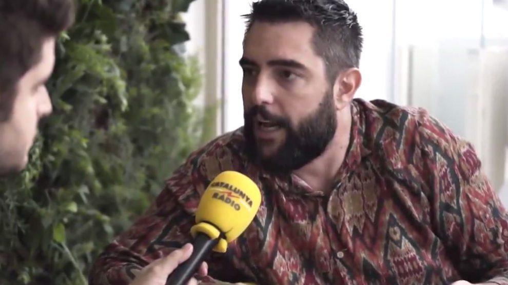 El actor Dani Mateo, durante la entrevista concedida a Catalunya Radio.