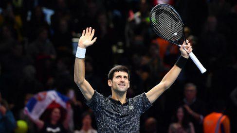 Djokovic celebra una victoria. (AFP)