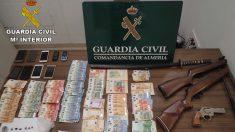 Desmantelado un clan que vendía drogas en Almería (Guardia Civil).