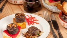 Receta de morcillas con piñones y espinacas