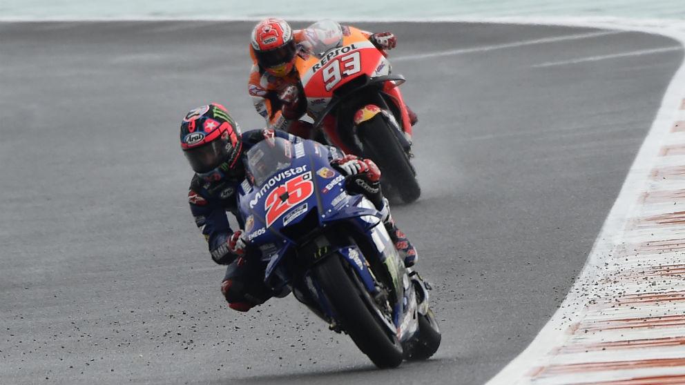 Maverick Viñales en el GP de Valencia. (AFP)