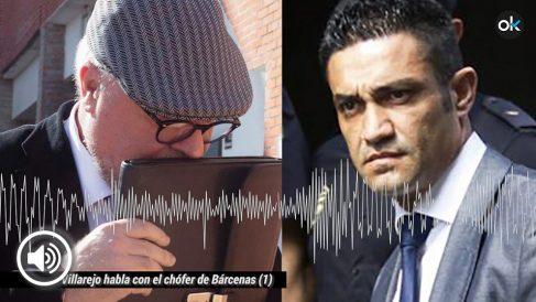 El comisario José Villarejo habla con el chófer de Bárcenas, Sergio Ríos.