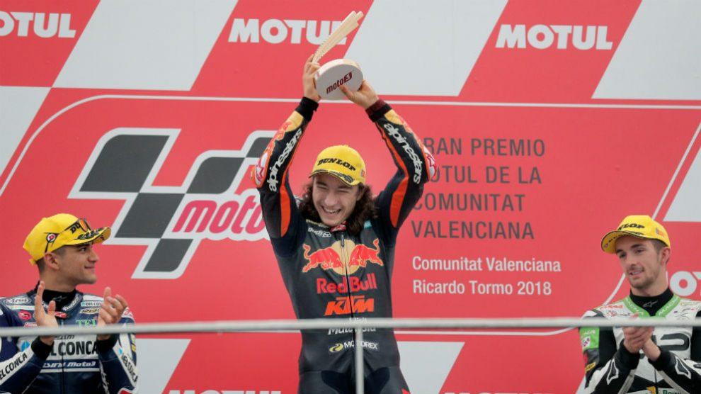 Can Oncu subió al primer cajón del podio en su debut. (EFE)