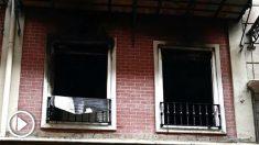 Imagen una vivienda incendiada (Foto: Efe).