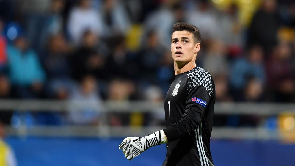 Kepa en un partido con España. (AFP)